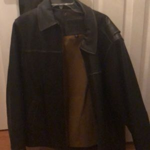 Never worn men's leather jacket
